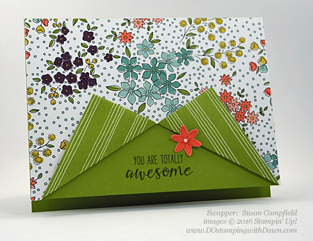 Grateful Bunch Bundle swap card shared by Dawn Olchefske #dostamping #stampinup (Susan Campfield)