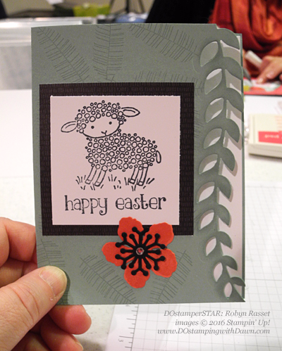 DOstamperSTARS Swap, Easter Lamb with Botanical Gardens Bundle shared by Dawn Olchefske #dostamping #stampinup (Robyn Rasset)