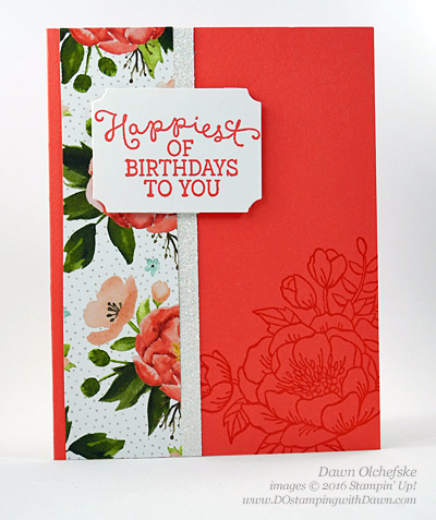 #imbringingbackbirthdays, Birthday Blooms & Birthday Bouquet Designer Series card by Dawn Olchefske #dostamping