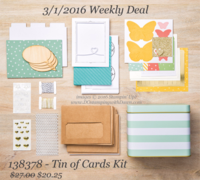 Weekly Deal Tin Kit of Cards shared by Dawn Olchefske #dostamping #stampinup