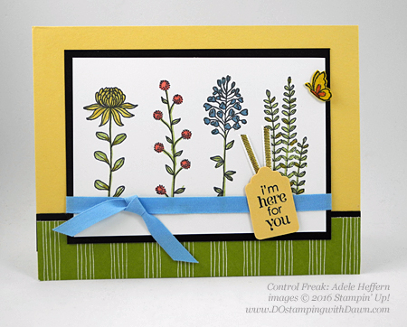 Sale-a-Bration Flowering Fields swap cards shared by Dawn Olchefske #dostamping #stampinup (Adele Heffern)