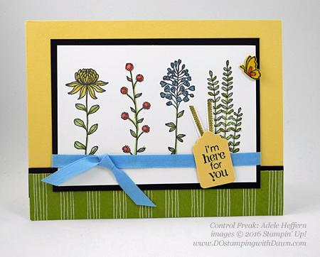 Sale-a-Bration Flowering Fields swap cards shared by Dawn Olchefske #dostamping #stampinup (Adele Heffern)