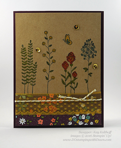 Sale-a-Bration Flowering Fields swap cards shared by Dawn Olchefske #dostamping #stampinup (Kay Kalthoff)