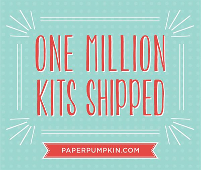 One Million Paper Pumpkin Kits, Free Stamp Set with April 2016 #dostamping #stampinup