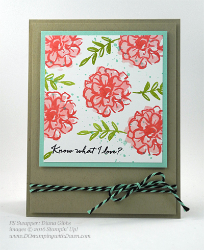 What I Love swap cards shared by Dawn Olchefske #dostamping #stampinup (Diana Gibbs)