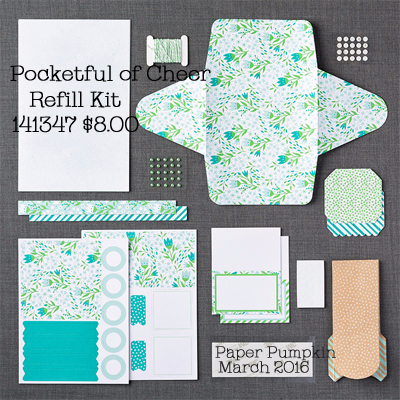 Pocketful Of Cheer refill for March 2016 Paper Pumpkin #dostamping #stampinup