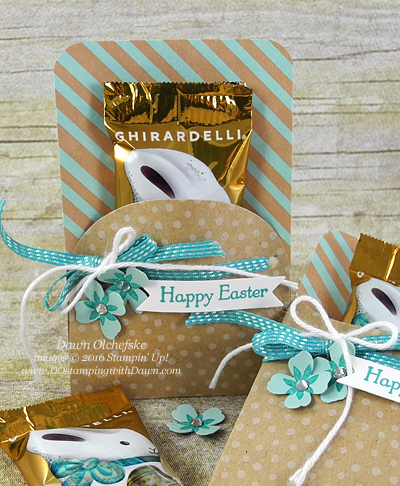 Paper Pumpkin March 2016, Pocketful of Cheer Bunny Candy Pouches created by Dawn Olchefske #dostamping #stampinup