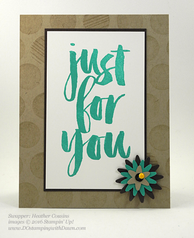 Sale-a-Bration Botanicals For You stamp set swap cards shared by Dawn Olchefske #dostamping #stampinup (Heather Cousins)