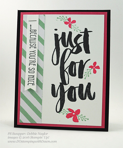 Sale-a-Bration Botanicals For You stamp set swap cards shared by Dawn Olchefske #dostamping #stampinup (Debbie Naylor)
