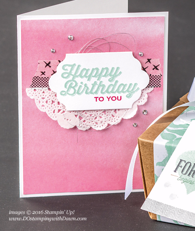 Sale-a-Bration Perfect Pairings stamp set swap cards shared by Dawn Olchefske #dostamping #stampinup
