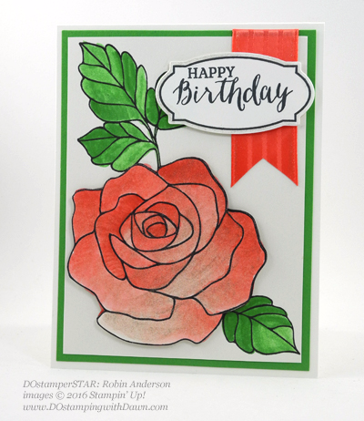 Rose Wonder Bundle card swap shared by Dawn Olchefske #dostamping #stampinup (Robin Anderson)