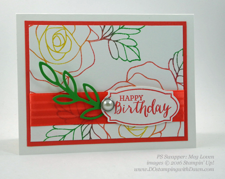 Rose Wonder Bundle card swap shared by Dawn Olchefske #dostamping #stampinup (Meg Loven)