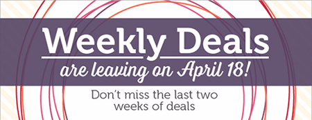 Stampin' Up! Weekly Deals Ending 04/18/16