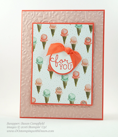Birthday Bouquet swap cards shared by Dawn Olchefske #dostamping #stampinup (Susan Campfield)