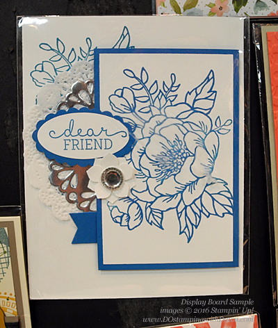 Birthday Blooms display board card shared by Dawn Olchefske #dostamping #stampinup