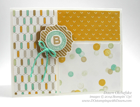 Label Bracket Lullaby card created by Dawn Olchefske, #dostamping, #stampinup