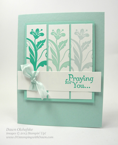 Flowering Flourishes card created by Dawn Olchefske, #dostamping #stampinup