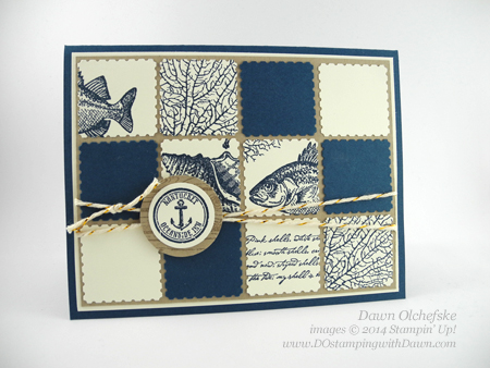 By The Tide Patchwork Card created by Dawn Olchefske, #dostmping, #stampinup