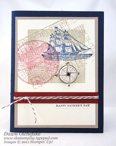 The Open Sea Father's Day Card created by Dawn Olchefske, #dostamping, #stampinup