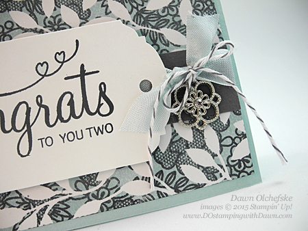 Something Lacy background stamp meets Irresistibly Yours Specialty Paper from Stampin' Up! shared by Dawn Olchefske #dostamping