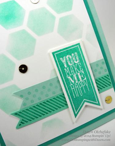 ombre technique with retiring hexagonhive thinlit card by Dawn Olchefske #dostamping #stampinup