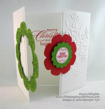 Retiring Stampin' Up! Floral Frames interlocking card by Dawn Olchefske #dostamping #stampingup