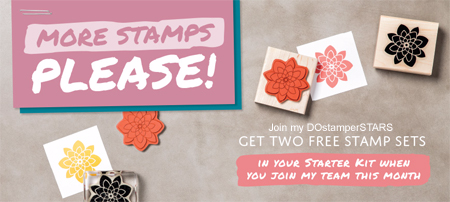 Join my DOstamperSTARS and receive two free stamp sets during June 2016 from Dawn Olchefske #dostamping #stampinup
