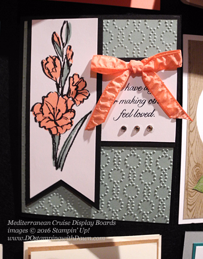 Gift of Love, Awesomely Artistic, Mediterranean Cruise Display Card shared by Dawn Olchefske #dostamping #stampinup