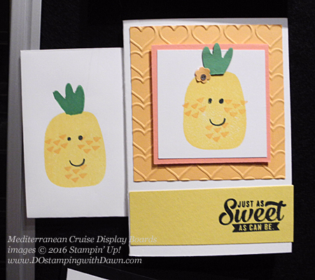 Playful Pals, Awesomely Artistic, Mediterranean Cruise Display Card shared by Dawn Olchefske #dostamping #stampinup