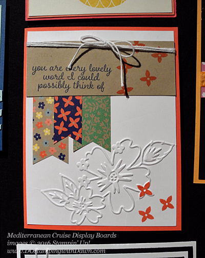 Love & Affection & Floral Designs Texture Folder, Awesomely Artistic, Mediterranean Cruise Display Card shared by Dawn Olchefske #dostamping #stampinup