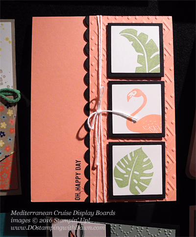 Pop of Paradise, Mediterranean Cruise Display Card shared by Dawn Olchefske #dostamping #stampinup