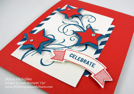 Falling Flowers 4th of July card created by Dawn Olchefske for DOstamperSTARS Thursday Challenge #DSC187 #dostamping #stampinup