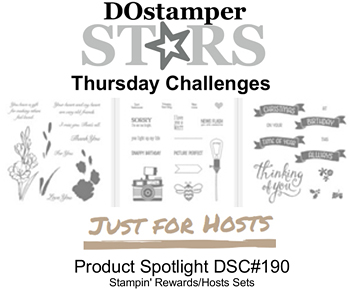 DOstamperSTARS Thursday Challenge #190-Product Spotlight