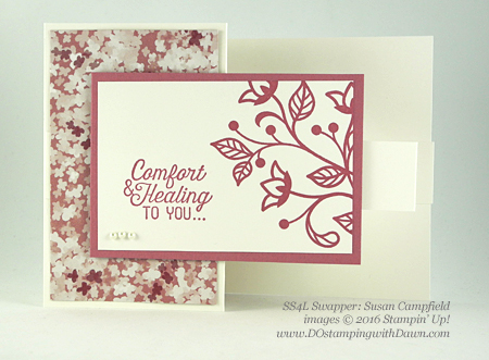 Flourishing Phrases Bundle swap cards shared by Dawn Olchefske #dostamping #stampinup (Susan Campfield)