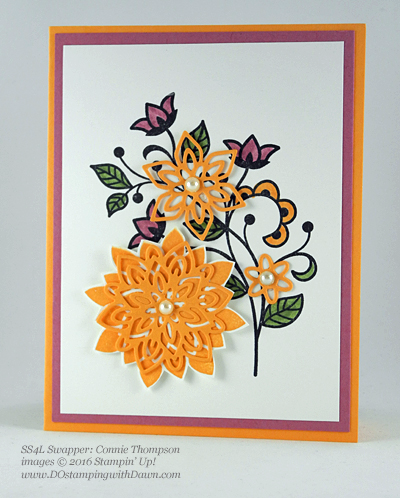 Flourishing Phrases Bundle swap cards shared by Dawn Olchefske #dostamping #stampinup (Connie Thompson)