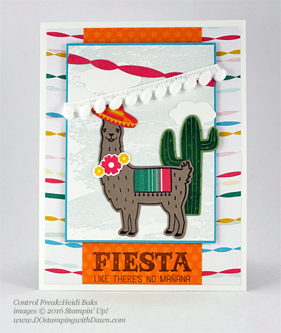 Birthday Fiesta Bundle swap cards shared by Dawn Olchefske #dostamping #stampinup (Heidi Baks)