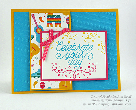 Birthday Fiesta Bundle swap cards shared by Dawn Olchefske #dostamping #stampinup (LeeAnn Greff)