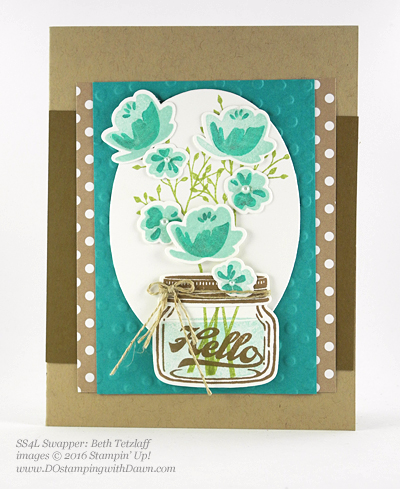 Jar of Love Bundle swap cards shared by Dawn Olchefske #dostamping #stampinup (Beth Tetzlaff)
