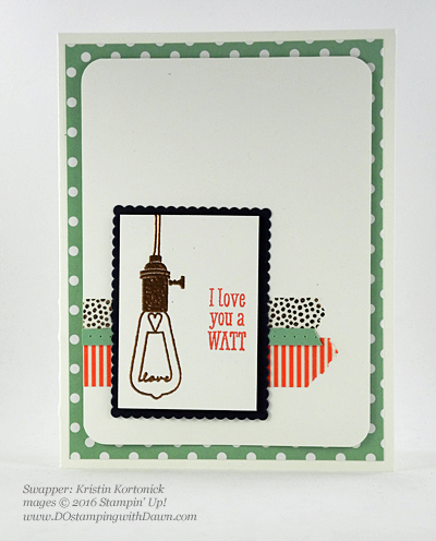 Pun Intended swap card shared by Dawn Olchefske #dostamping #stampinup (Kristin Kortonick)