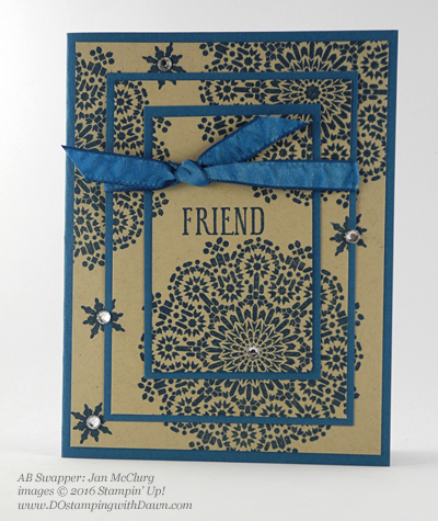 Moroccan Nights swap card shared by Dawn Olchefske #dostamping #stampinup (Jan McClurg)