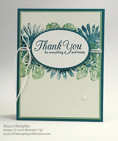 Blooms & Wishes Craft Sheet Stamping Technqiue card created by Dawn Olchefske #dostamping #stampinup