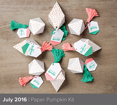 What a Gem Paper Pumpkin Kit for June 2016 from Dawn Olchefske #dostamping #stampinup