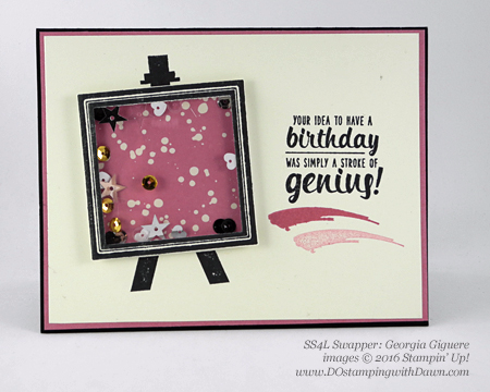 Painter's Palette with Playful Palette DSP swap cards shared by Dawn Olchefske #dostamping #stampinup (Georgia Giguere)