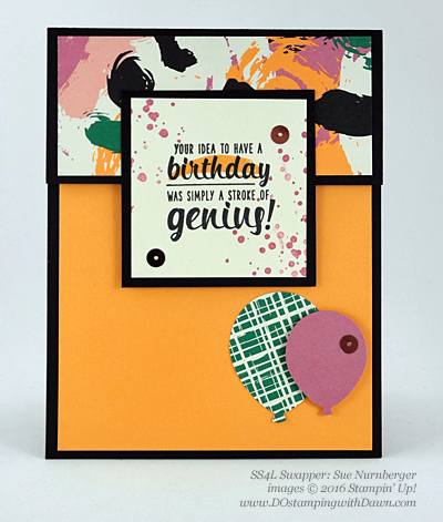 Painter's Palette with Playful Palette DSP swap cards shared by Dawn Olchefske #dostamping #stampinup (Sue Nurnberger)
