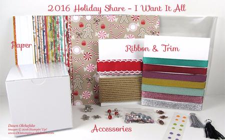 Dawn Olchefske's 2016 Holiday Catalog Product Share #dostamping #stampinup