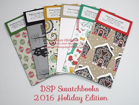 2016 Holiday Catalog DSP Swatchbooks by Dawn Olchefske #dostamping #stampinup
