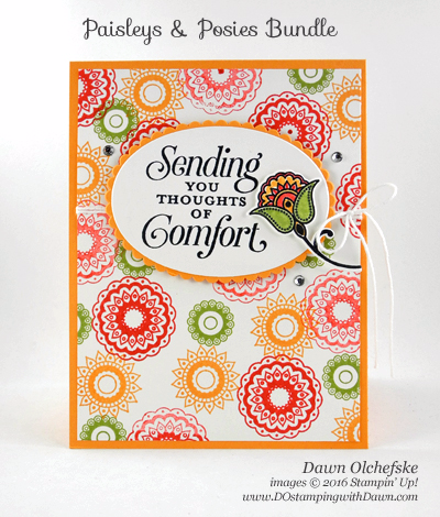 Paisleys & Posies Bundle card created by Dawn Olchefske for DOstamperSTARS Thursday Challenge #DSC196 #dostamping #stampinup