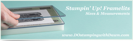 Stampin' Up! Framelit & Thinlits Sizes #dostamping