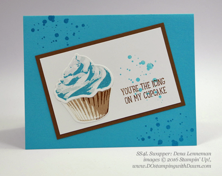 Stampin' Up! Special Offer Sept 8/14 Cupcake Cutouts Framelits swap card shared by Dawn Olchefske #dostamping (Dena Lenneman)