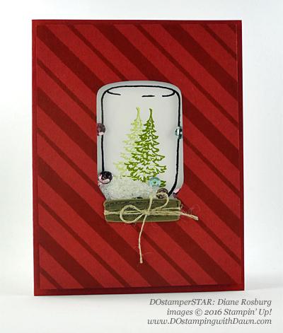 Jar of Cheer swap card shared by Dawn Olchefske #dostamping (Diane Rosburg)